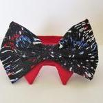Dog Collar Bow Tie Patriotic Firewo..